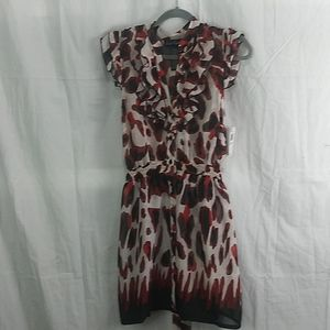 4/20 nwt Suzie Rose almost sheer tie back dress xl